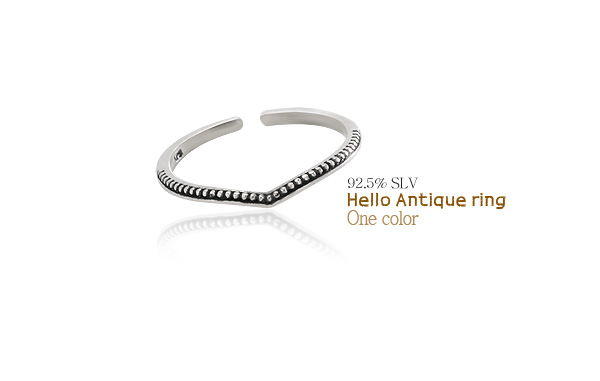 [ 4xtyle ] [ SILVR ] HELLO 古董环
