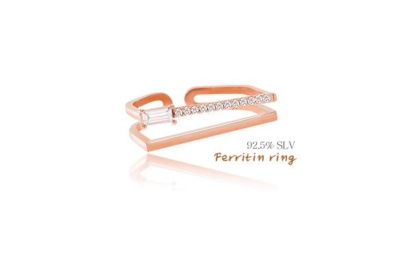 [ 4xtyle ] [SILVER]FERRITIN RING