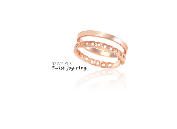 [ 4xtyle ] [SILVER] TWIST JOY RING