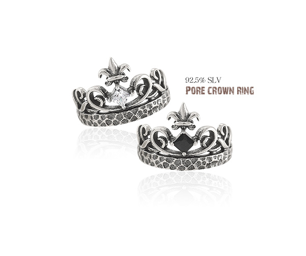 [ 4xtyle ] [silver] four crown ring