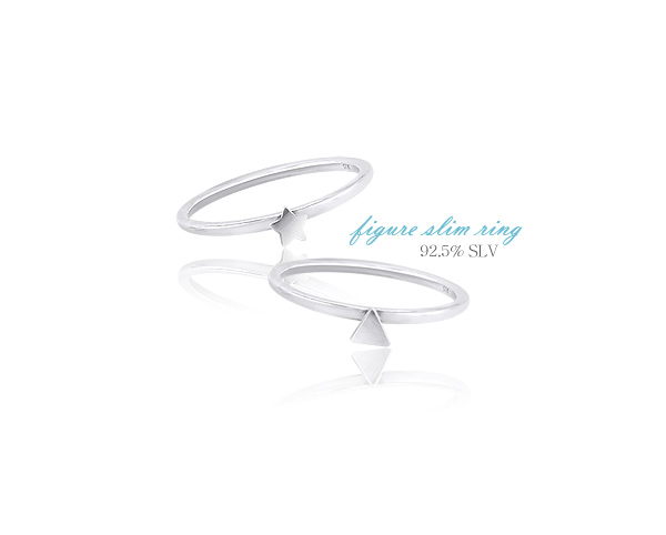 [ 4xtyle ] [silver] figure slim ring