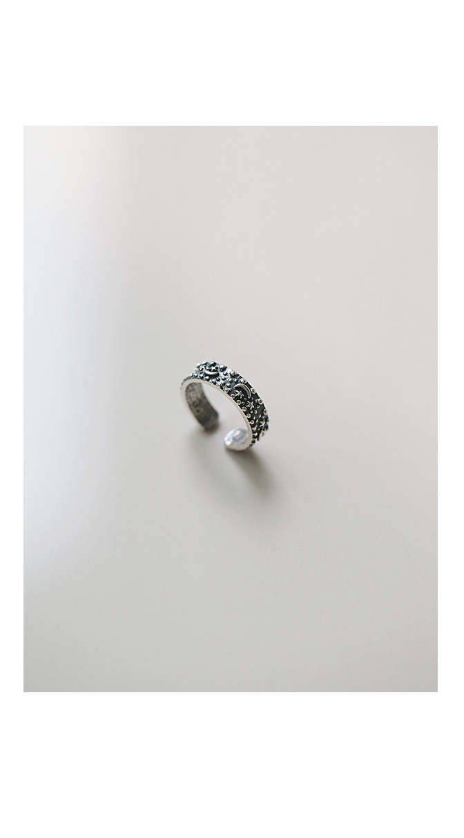 [ 4xtyle ] [silver] night antique ring