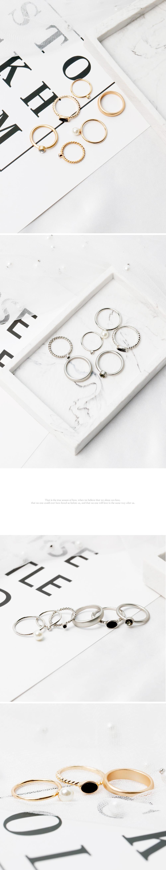 [6개 1세트] 엔틱 마레 반지 - 폭스타일, 9,000원, 패션, 패션반지