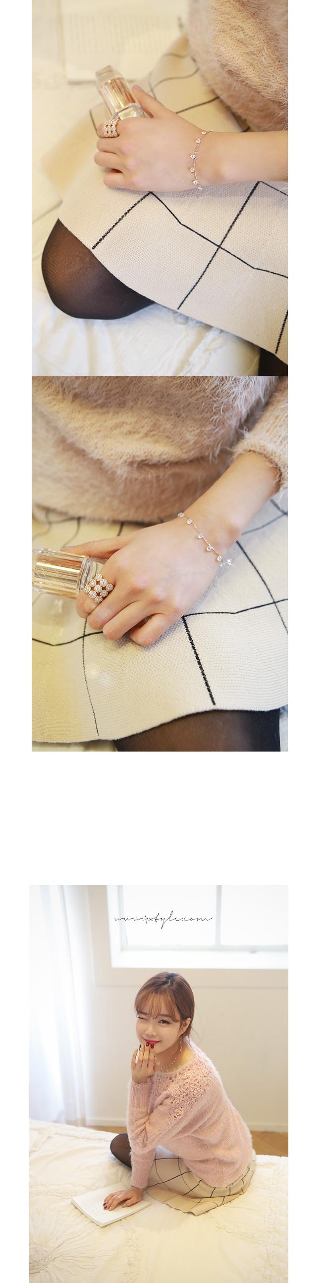 [ 4xtyle ] (3EA 1集)[银]水晶设置