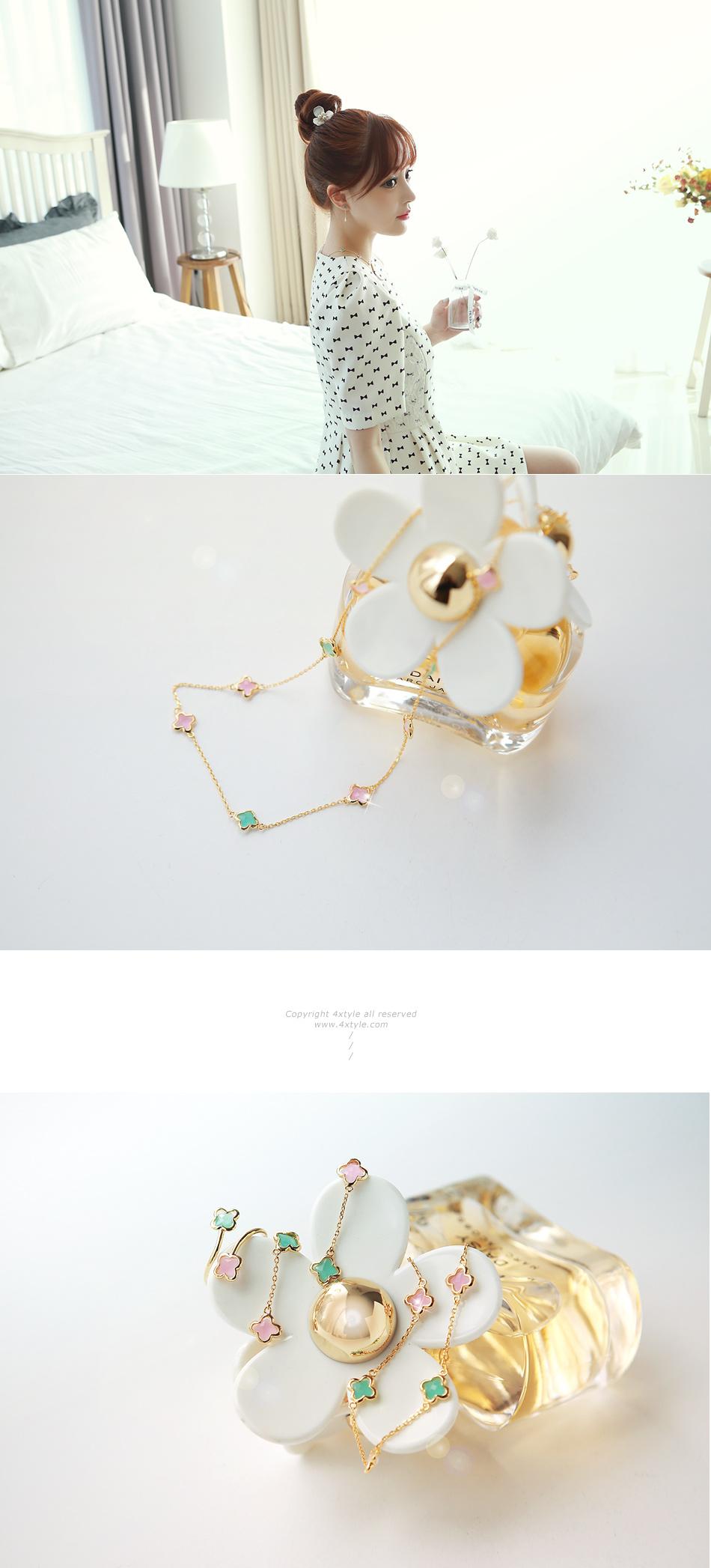 [ 4xtyle ] (4EA 1SET) [SILVER] PASTEL FLOWER SET