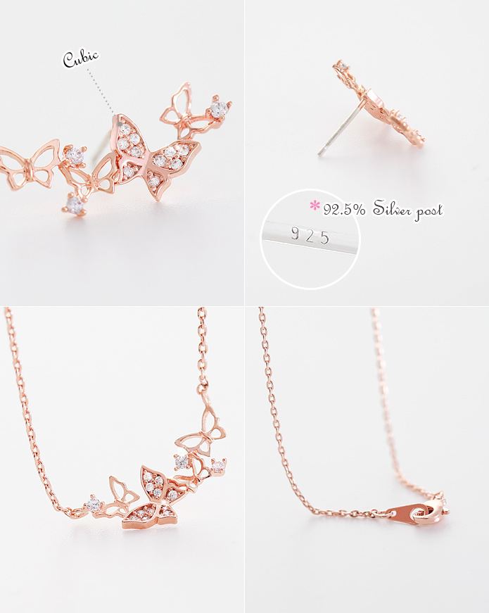 [ 4xtyle ] [SILVER] HONEY GARDEN SET (ROSEGOLD)