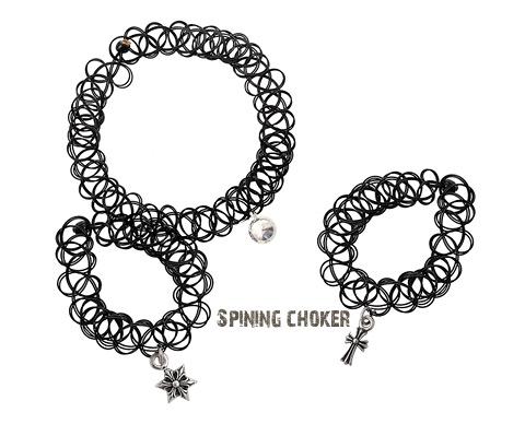[ 4xtyle ] [银]纹身环设置(花迷你十字)