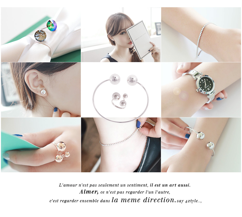 [ 4xtyle ] (RING + BRACELET) BUBBLE BUBBLE SET