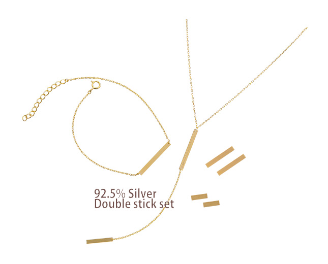[ 4xtyle ] [SILVER] DOUBLE STICK SET (5MM)