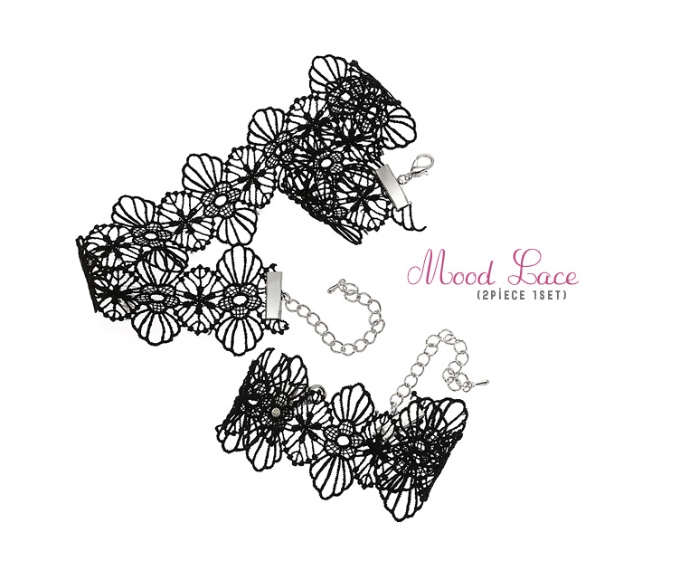 [ 4xtyle ] (NECKLACE+BRACELET) MOOD LACE SET