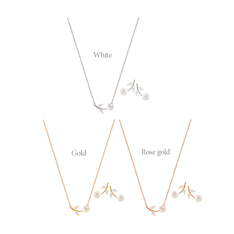 [ 4xtyle ] [SILVER] EMILIA SET(WHITE/GOLD)
