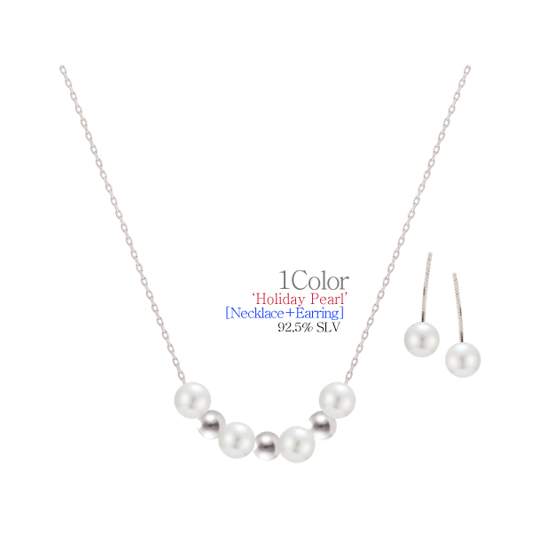 [ 4xtyle ] [SILVER](EARRING+NECKLACE) HOLIDAY SET