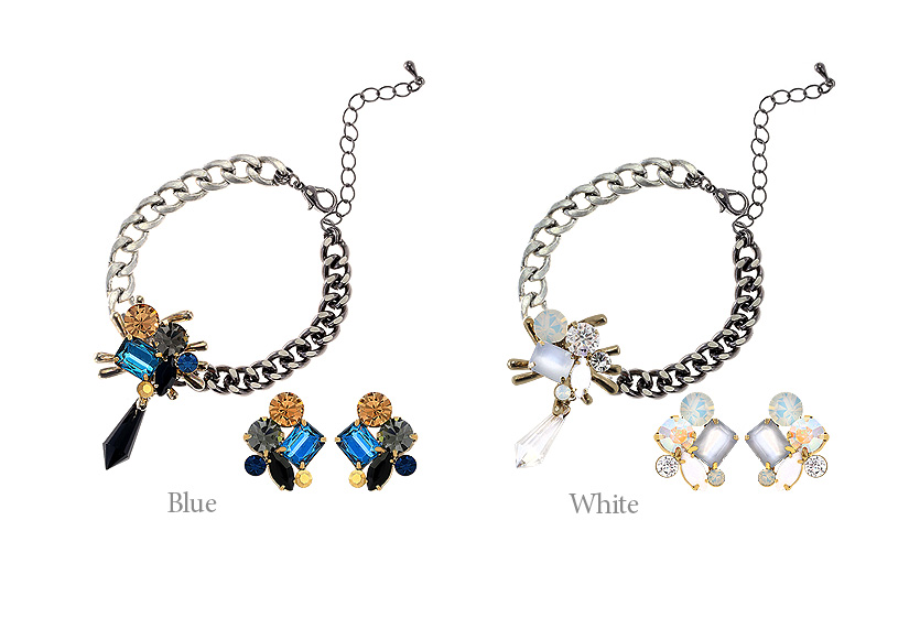 [ 4xtyle ] (BRACELET+EARRING) NEW YORK CITY SET