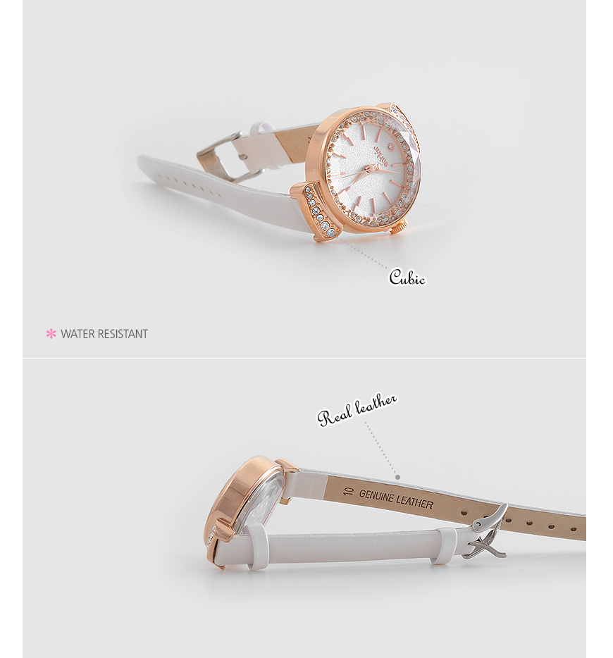 [ 4xtyle ] PEANUT LEATHER WATCH
