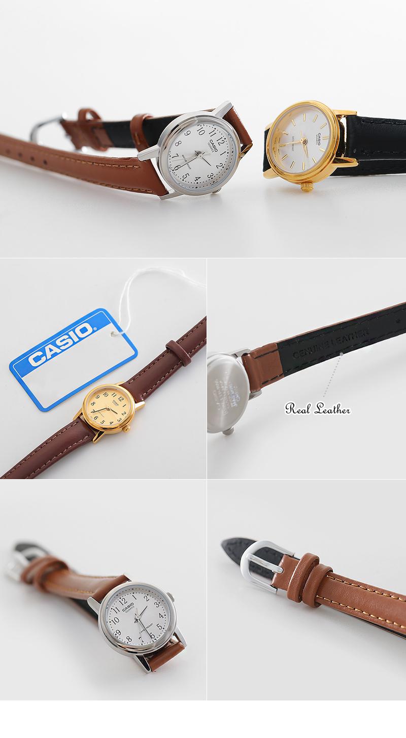[카시오] 클래식 아날로그 시계(White) - 폭스타일, 35,000원, 여성시계, 가죽시계