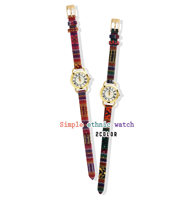 [ 4xtyle ] SIMPLE ETHNIC LEATHER WATCH