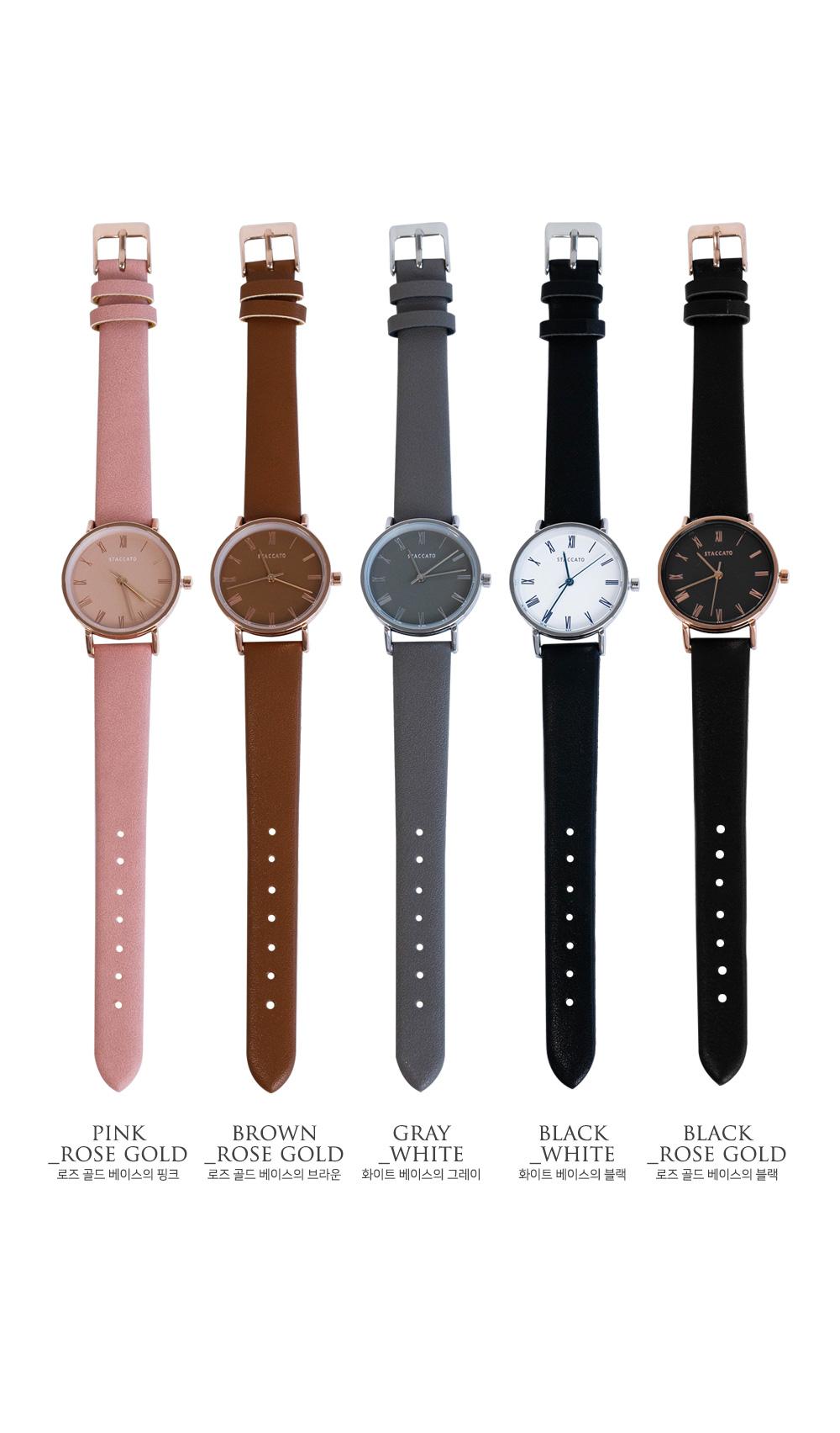 모드 가죽 시계 - 폭스타일, 24,000원, 여성시계, 가죽시계